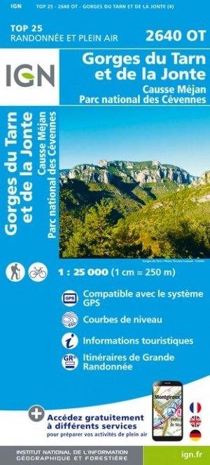 2640OT   Gorges du Tarn   wandelkaart 1:25.000 9782758545415  IGN TOP 25  Wandelkaarten Cevennen, Lozère, Gard en Aveyron