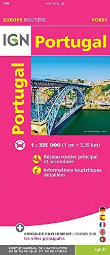 Portugal 1:335.000 9782758545828  IGN   Landkaarten en wegenkaarten Portugal