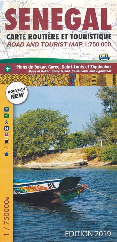 Senegal 1:750.000 9782917495230  Laure Kane   Landkaarten en wegenkaarten West-Afrikaanse kustlanden (van Senegal tot en met Nigeria)