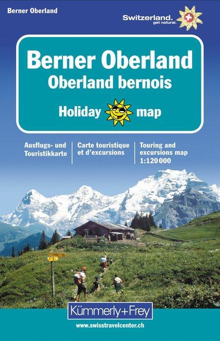Berner Oberland 1:120.000 9783259009116  Kümmerly & Frey Holiday Maps  Landkaarten en wegenkaarten Berner Oberland, Basel, Jura, Genève
