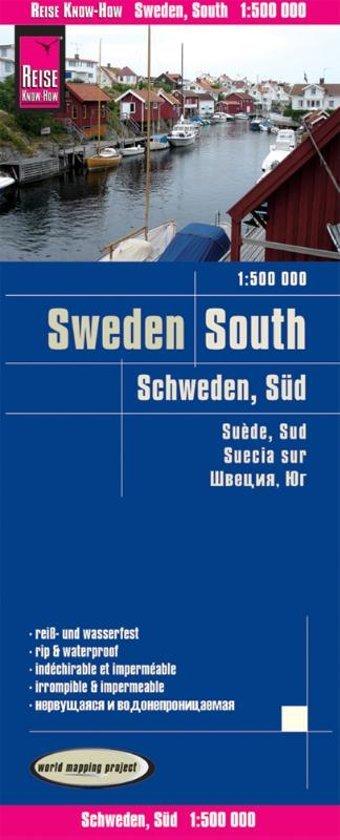 landkaart, wegenkaart Zuid-Zweden 1:500.000 9783831773817  Reise Know-How WMP Polyart  Landkaarten en wegenkaarten Zuid-Zweden