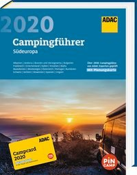 ADAC Campingführer 2020 Südeuropa 9783862072460  ADAC   Campinggidsen Europa