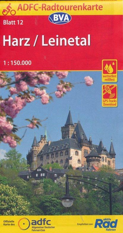 ADFC-12 Harz/Leinetal | fietskaart 1:150.000 9783870739096  ADFC / BVA Radtourenkarten 1:150.000  Fietskaarten Harz
