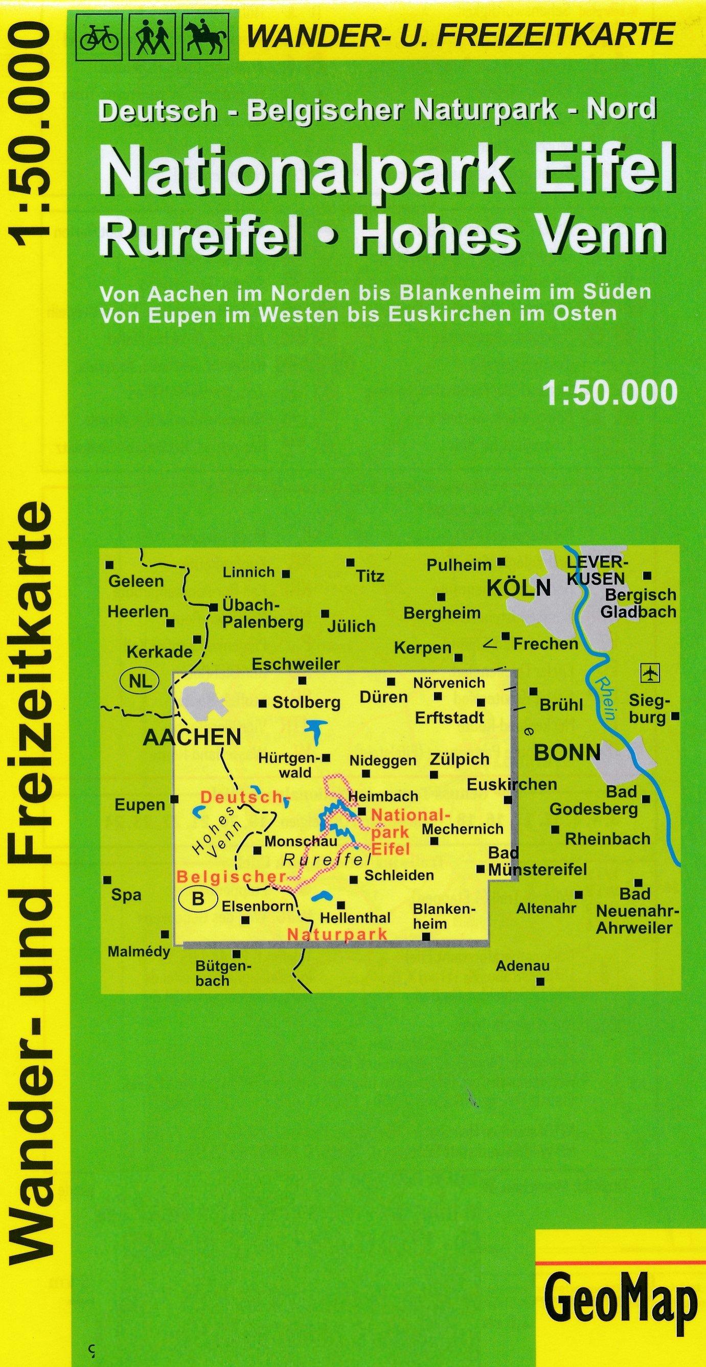 Rureifel, Hohes Venn 1:50.000 9783933671110  GeoMap Wandelkaarten Eifel  Wandelkaarten Eifel, Moezel, Rheinland-Pfalz