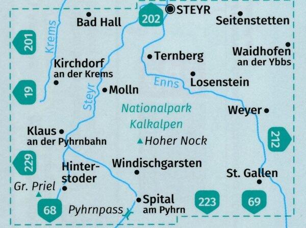 KP-70  NP Kalkalpen   Kompass wandelkaart 9783990444528  Kompass Wandelkaarten   Wandelkaarten Wenen, Noord- en Oost-Oostenrijk