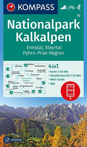 KP-70  NP Kalkalpen | Kompass wandelkaart 9783990444528  Kompass Wandelkaarten   Wandelkaarten Wenen, Noord- en Oost-Oostenrijk