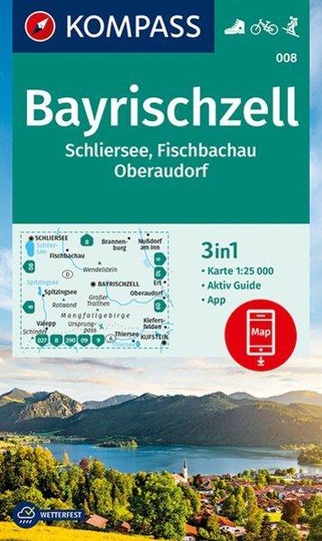 KP-008  Bayrischzell | Kompass wandelkaart 1:25.000 9783990447208  Kompass Wandelkaarten   Wandelkaarten Beierse Alpen en München