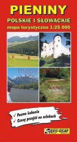 Pieniny: Polskie i Slowackie | wandelkaart 1:25.000 9788386645381  Eko-Graf   Wandelkaarten Polen