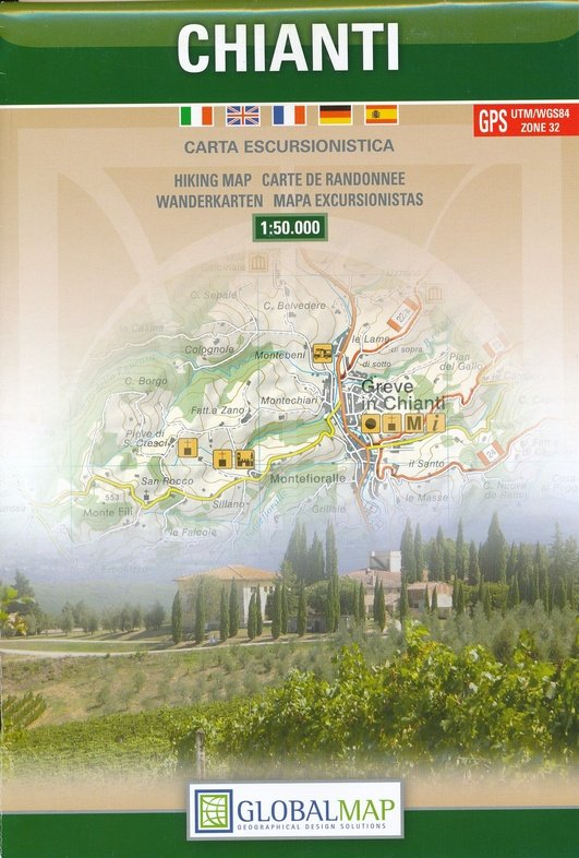 Chianti 1:50.000 9788879149211  Global Map   Wandelkaarten, Wijnreisgidsen Toscane, Florence