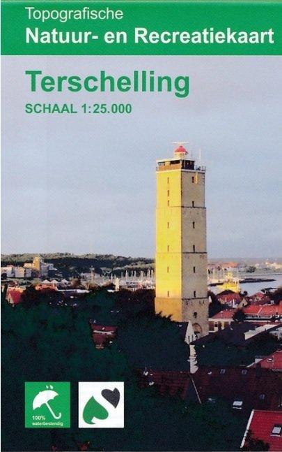 Terschelling 1:25.000 9789077350935  K&A   Wandelkaarten Waddeneilanden en Waddenzee