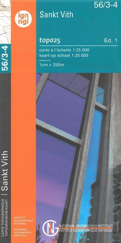 NGI-56/3-4  St.Vith-Schoenberg | topografische wandelkaart 1:25.000 9789462352407  NGI Belgie 1:20.000/25.000  Wandelkaarten Wallonië (Ardennen)