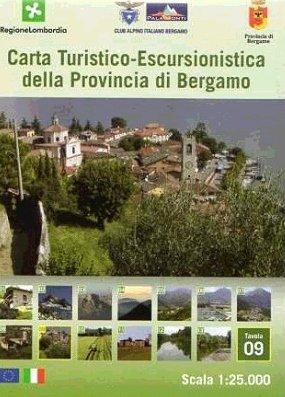 Foglio 9 | wandelkaart 1:25.000 INGENIA F.09  Ingenia / CAI Bergamo Provincia di Bergamo 1:25.000  Wandelkaarten Ligurië, Piemonte, Lombardije