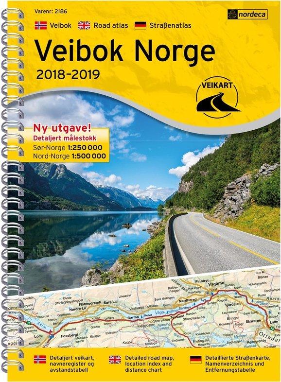 Veibok Norge 7046660021866  Ugland Wegenatlassen  Wegenatlassen Noorwegen