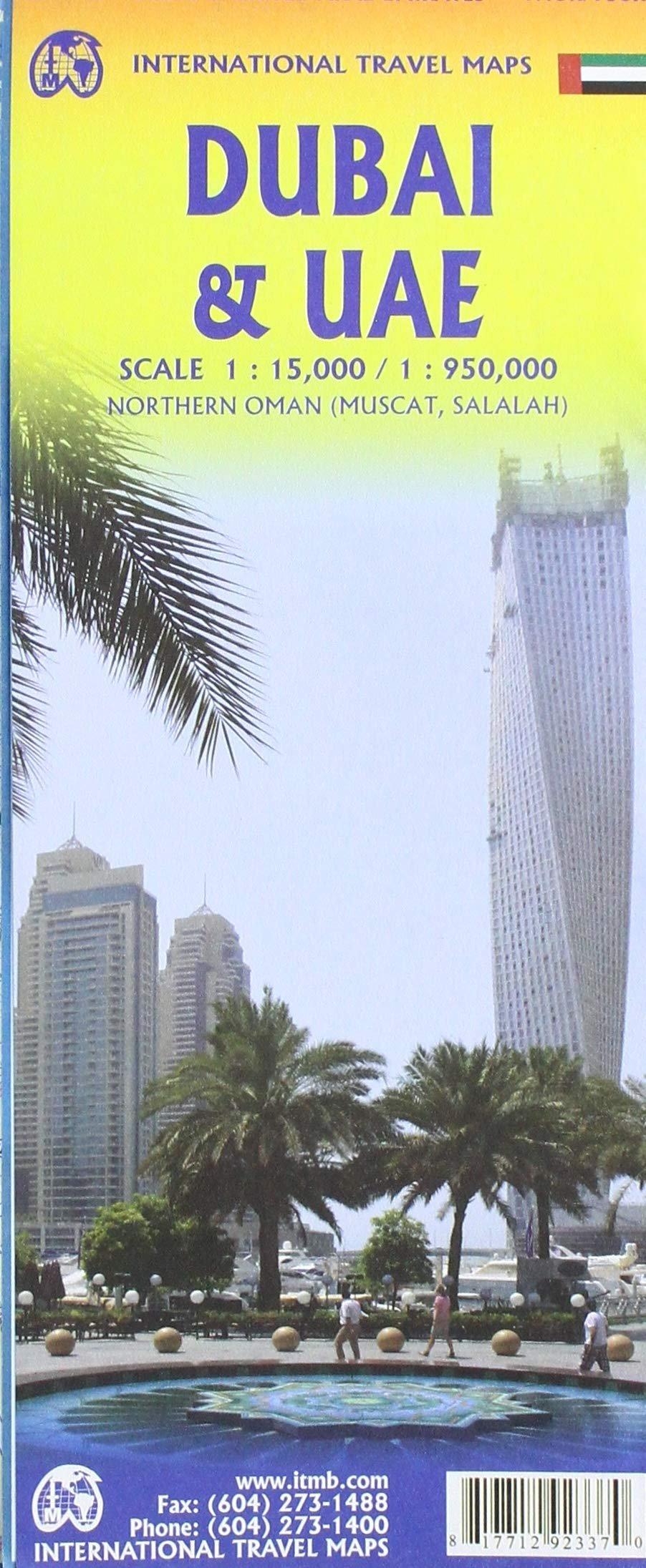 Dubai | landkaart, autokaart, stadsplattegrond 1:15.000 9781771292337  ITM   Landkaarten en wegenkaarten, Stadsplattegronden Oman, Abu Dhabi, Dubai, Saudi-Arabië, Jemen