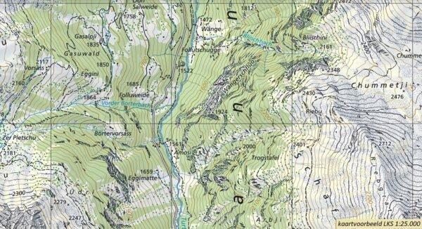 CH-1194  Flims [2016] topografische wandelkaart 9783302011943  Bundesamt / Swisstopo LKS 1:25.000  Wandelkaarten Graubünden, Tessin