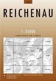 CH-1195  Reichenau [2011] topografische wandelkaart 9783302011950  Bundesamt / Swisstopo LKS 1:25.000  Wandelkaarten Graubünden, Tessin