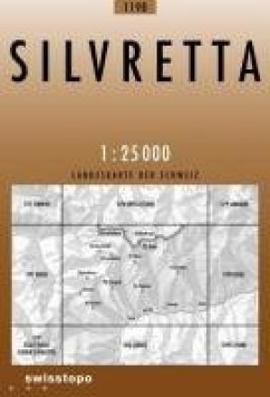 CH-1198  Silvretta [2011] topografische wandelkaart 9783302011981  Bundesamt / Swisstopo LKS 1:25.000  Wandelkaarten Graubünden, Tessin