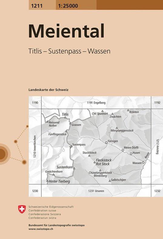 CH-1211  Meiental [2015] topografische wandelkaart 9783302012117  Bundesamt / Swisstopo LKS 1:25.000  Wandelkaarten Noordoost- en Centraal Zwitserland