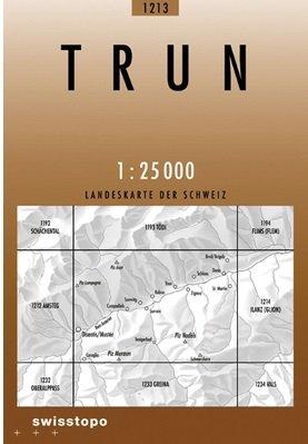 CH-1213  Trun [2009] topografische wandelkaart 9783302012131  Bundesamt / Swisstopo LKS 1:25.000  Wandelkaarten Graubünden, Tessin