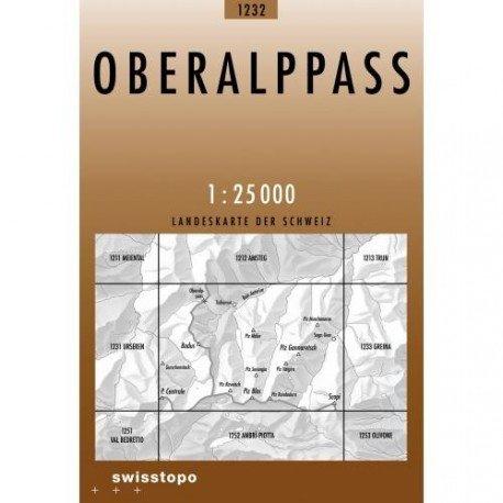 CH-1232  Oberalppass [2009] topografische wandelkaart 9783302012322  Bundesamt / Swisstopo LKS 1:25.000  Wandelkaarten Graubünden, Tessin