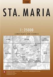 CH-1239  Sta.Maria [2011] topografische wandelkaart 9783302012391  Bundesamt / Swisstopo LKS 1:25.000  Wandelkaarten Graubünden, Tessin
