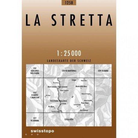 CH-1258  La Stretta [2011] topografische wandelkaart 9783302012582  Bundesamt / Swisstopo LKS 1:25.000  Wandelkaarten Graubünden, Tessin