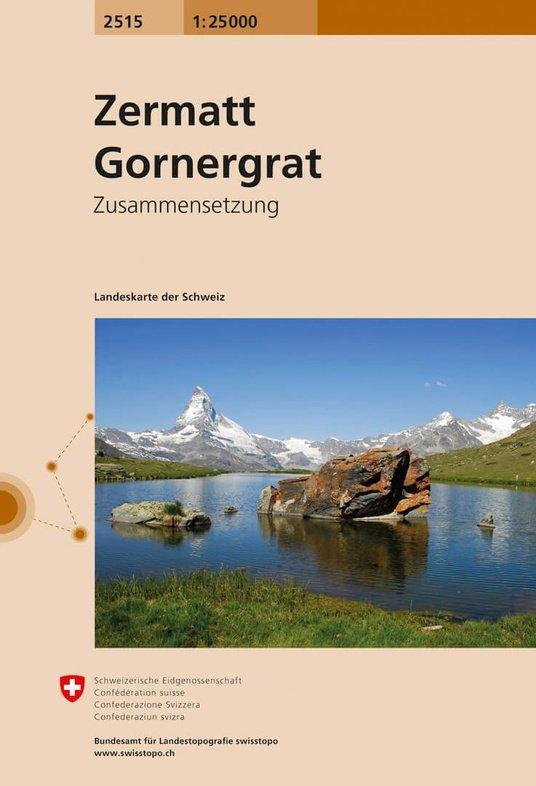 CH-2515  Zermatt - Gornergrat [2019] topografische wandelkaart 9783302025155  Bundesamt / Swisstopo LKS 1:25.000 Zusammensetzung  Wandelkaarten Wallis