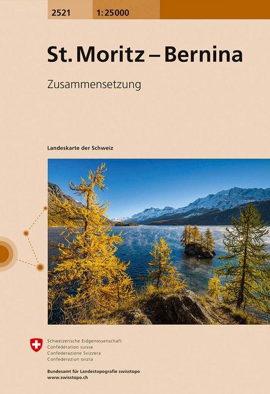 CH-2521 St. Moritz/Bernina [2017] topografische wandelkaart 9783302025216  Bundesamt / Swisstopo LKS 1:25.000 Zusammensetzung  Wandelkaarten Graubünden, Tessin