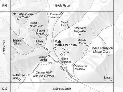 CH-1219 Bis  Glorenza/ Glurns [2017] topografische wandelkaart 9783302112190  Bundesamt / Swisstopo LKS 1:25.000  Wandelkaarten Zuidtirol, Dolomieten, Friuli, Venetië, Emilia-Romagna