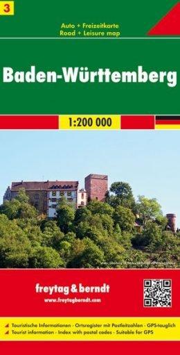 FBD-03  Baden-Württemberg 1:200.000 9783707900675  Freytag & Berndt Duitsland 1:200.000  Landkaarten en wegenkaarten Baden-Württemberg, Zwarte Woud