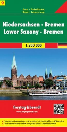 FBD-09  Niedersachsen & Bremen 1:200.000 9783707901672  Freytag & Berndt Duitsland 1:200.000  Landkaarten en wegenkaarten Schleswig-Holstein, Hamburg, Niedersachsen