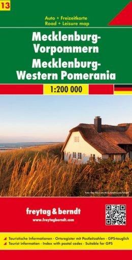 FBD-13  Mecklenburg-Vorpommern, Rügen 1:200.000 9783707901719  Freytag & Berndt Duitsland 1:200.000  Landkaarten en wegenkaarten Mecklenburg-Vorpommern, Rügen