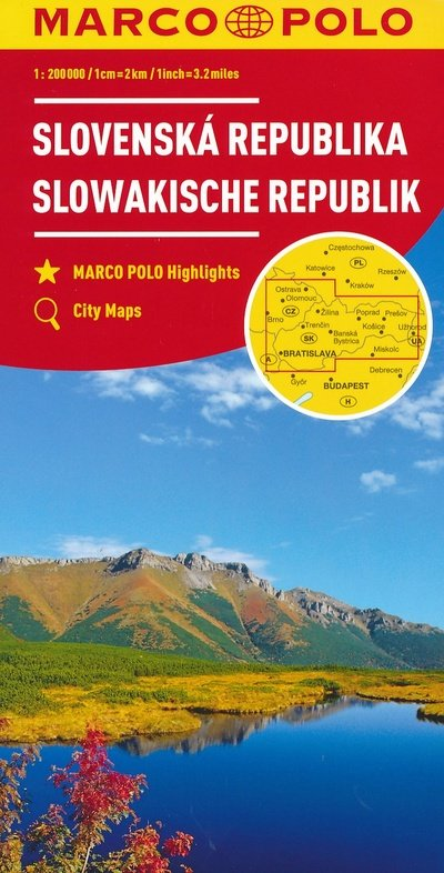 Slowakije overzichtskaart / wegenkaart 1:200.000 9783829739917  Marco Polo (D) MP Wegenkaarten  Landkaarten en wegenkaarten Slowakije