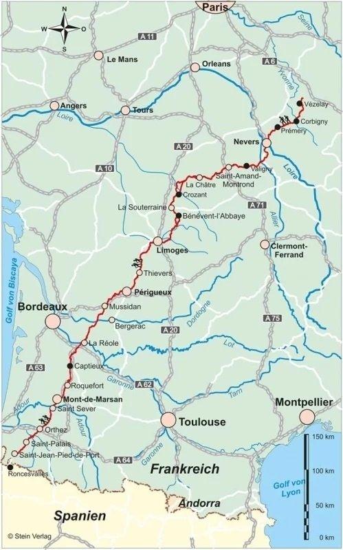 Jakobsweg Via Lemovicensis   wandelgids Jacobsroute 9783866866478  Conrad Stein Verlag Outdoor - Der Weg ist das Ziel  Santiago de Compostela, Wandelgidsen Frankrijk