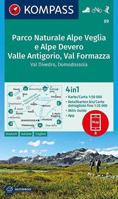 KP-89  Parco Naturale Alpe Veglia | Kompass wandelkaart 1:50.000 9783990444399  Kompass Wandelkaarten   Wandelkaarten Ligurië, Piemonte, Lombardije