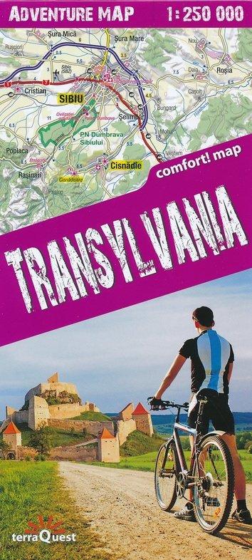 Transsylvanië 1:250.000 overzichtskaart / wegenkaart 9788361155454  TerraQuest   Landkaarten en wegenkaarten Roemenië, Moldavië