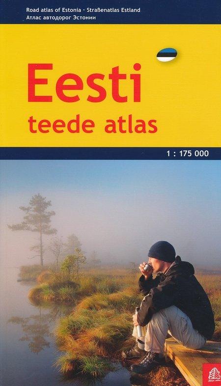 Estland 1:175.000 wegenatlas Eesti 9789984076553  Jana Seta   Wegenatlassen Estland