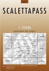CH-1217  Scalettapass [2011] topografische wandelkaart CH1217  Bundesamt / Swisstopo LKS 1:25.000  Wandelkaarten Graubünden, Tessin