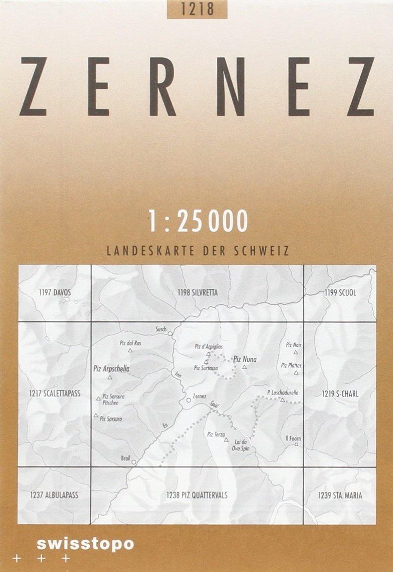 CH-1218  Zernez [2011] topografische wandelkaart CH1218  Bundesamt / Swisstopo LKS 1:25.000  Wandelkaarten Graubünden, Tessin