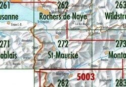CH272  St.Maurice [2002] CH272  Bundesamt Normalblatt 1:50.000  Wandelkaarten Wallis