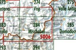 CH284  Mischabel [2004] CH284  Bundesamt Normalblatt 1:50.000  Wandelkaarten Wallis