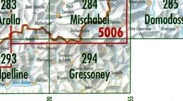 CH294  Gressoney [2004] CH294  Bundesamt Normalblatt 1:50.000  Wandelkaarten Ligurië, Piemonte, Lombardije