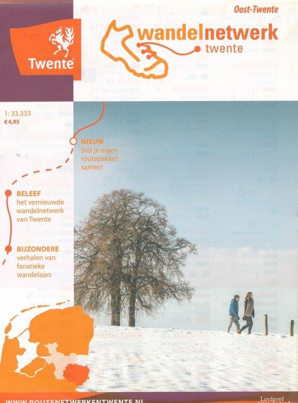 Wandelkaart Oost-Twente 1:33.333 WNTOT Wandelnetwerk Twente Wandelnetwerk Twente   Wandelkaarten Twente