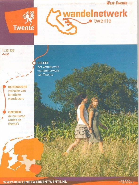Wandelkaart West-Twente 1:33.333 WNTWT Wandelnetwerk Twente Wandelnetwerk Twente   Wandelkaarten Twente