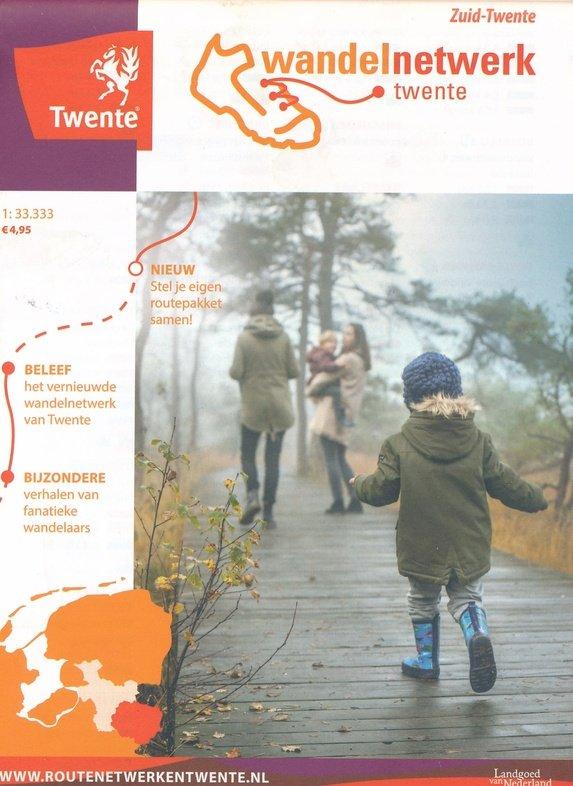 Wandelkaart Zuid-Twente 1:33.333 WNTZT Wandelnetwerk Twente Wandelnetwerk Twente   Wandelkaarten Twente