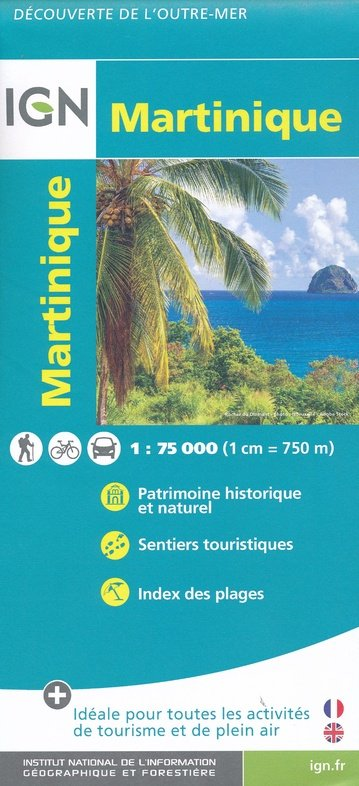 Martinique 1:75.000 9782758546603  IGN IGN Spéciales  Landkaarten en wegenkaarten, Wandelkaarten Overig Caribisch gebied
