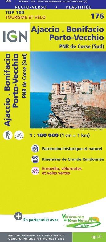 SV-176  Ajaccio/Bonifacio (Corse Sud) 9782758547808  IGN Série Verte 1:100.000  Fietskaarten, Landkaarten en wegenkaarten Corsica