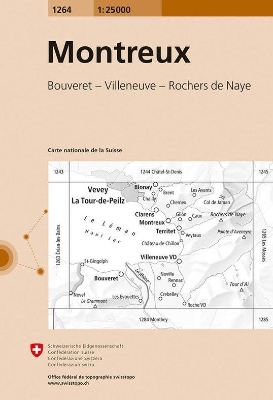 CH-1264  Montreux [2018] topografische wandelkaart 9783302012643  Bundesamt / Swisstopo LKS 1:25.000  Wandelkaarten Berner Oberland, Basel, Jura, Genève
