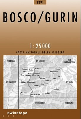 CH-1291  Bosco/ Gurin [2008] topografische wandelkaart 9783302012919  Bundesamt / Swisstopo LKS 1:25.000  Wandelkaarten Graubünden, Tessin