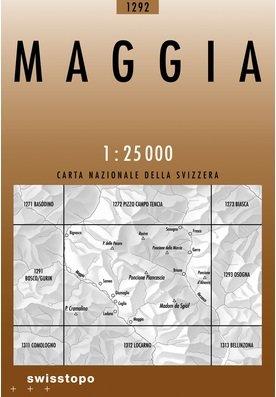 CH-1292  Maggia [2008] topografische wandelkaart 9783302012926  Bundesamt / Swisstopo LKS 1:25.000  Wandelkaarten Graubünden, Tessin